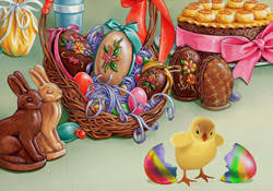 happy easter chocolate confection e card by jacquie lawson