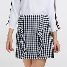 s xl high waist plaid skirts womens a line mini short skirt 2017