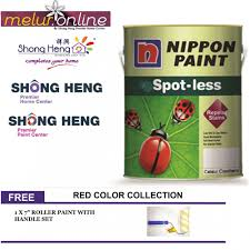 nippon paint spotless 5l red color series