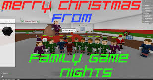 roblox christmas rush w family game nights youtube