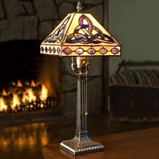 stained glass trinity knot lamp