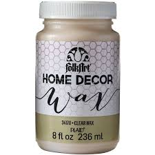 amazon com folkart home decor wax 8 ounce 34170 clear