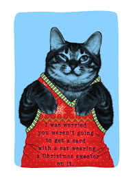 meowy christmas meowy christmas card christmas greeting card justwink cards