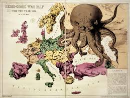 Cold War Map Of Europe by Europe Satirical Maps Zoom Maps