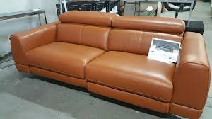 Recliners Sofa Muse 10983 Thick Top Grain Leather Recliners Sofa Eurohaus