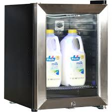glass door small refrigerator mini milk fridge for use in automatic coffee machines designed to