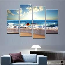 wall arts large wall art ocean beach and wave canvas print