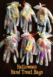 halloween trick or treat hand shaped treat bags