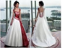white and red wedding dresses can express your personality