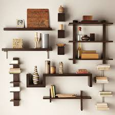 nice modern brown furniture book shelf that can be decoration