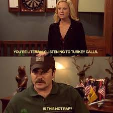 thanksgiving as told by parks and rec the roar