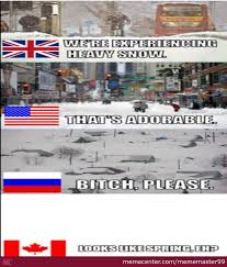 Canada Snow Meme - one of the only things canada is superior in snow by mememaster99