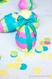 paper easter eggs easy confetti paper mache easter eggs