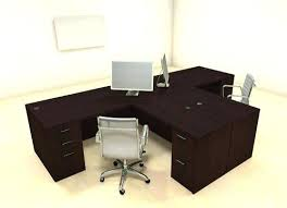 Parsons Computer Desk T Shaped Desk For Two Desk For Two Persons Computer Desk For 2