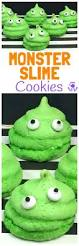 halloween monster slime cookies