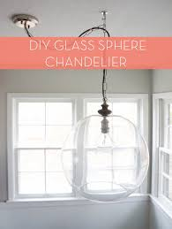 Diy Glass Pendant Light How To Diy Sphere Chandelier From A Glass Bowl Curbly