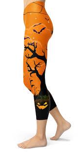 halloween spooky crop capri leggings designed by squeaky chimp