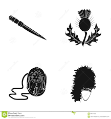 national dirk dagger thistle national symbol sporran glengarry