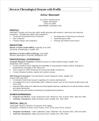 Example Chronological Resume by Resume Profile Example 7 Samples In Pdf Word