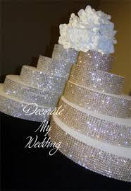 rhinestone cake decorate my wedding swarovski rhinestone risers