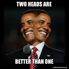 How To Make A Meme With Two Pictures - two heads are better than one two faced obama make a meme