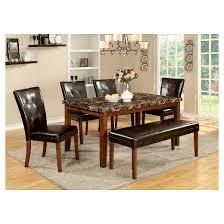 IoHomes Faux Marble Table Top Dining Table WoodAntique Oak  Target - Antique oak kitchen table