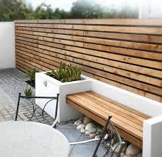 Planter Bench Seat Conjunto De Valla Y Banco De Madera De Teca Jardin Pinterest