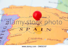 madrid spain map up of madrid on map spain stock photo royalty free image