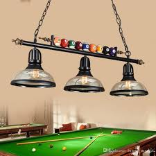 Pool Table Chandeliers Discount Northern Europe Loft Retro American Style Industry