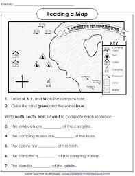 map skills worksheets 2nd grade worksheets