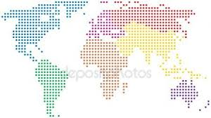 world map stock image colorful world map stock vector volina 1149845