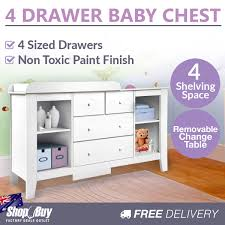 white nursery changing table baby nursery change table chest dresser drawer cabinet nappy changer