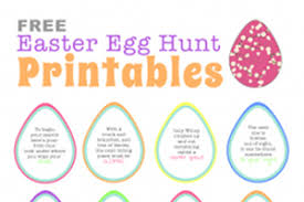 easter scavenger hunt free easter egg hunt printable clues cool easter egg hunt ideas