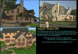 mod the sims request challenging modern 20s style mansion no advertisement