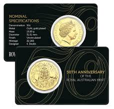 50th anniversary gold plate 50th anniversary of the canberra mint the australian coin