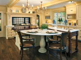 Kitchen Island With Table Transitional Kitchens Hgtv