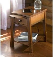 chairside table with charging station end table charging station large size of end station end table