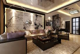 interior modern living room decor meet chinese style wall art