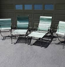vintage 1950 60 u0027s woodard ionian wrought iron chairs and loungers