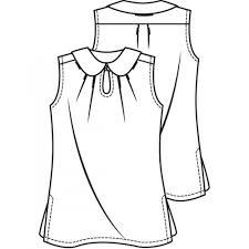 voile blouse pdf knipmode flat fashion sketches pinterest