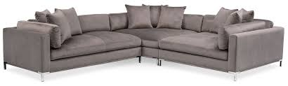 3 sectional sofa with chaise moda 3 sectional with left facing chaise oyster value