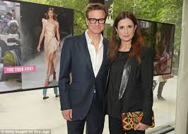 colin firth accompanies wife livia to screening of her new movie