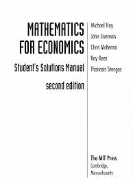 hoy solutions manual for mathematics for economics