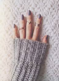 favorite things friday ring matte purple nails and gray