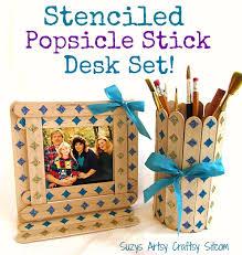 where to buy lollipop sticks diy stenciled popsicle stick desk set desks and tutorials