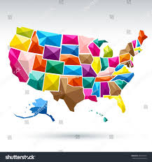 United States America Map by United States America Map Vector Stock Vector 260193974 Shutterstock