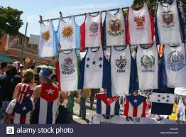 Latin Country Flags Miami Florida Little Havana Calle Ocho Carnaval Jerseys Shirts