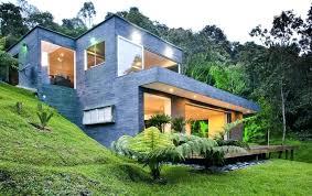 hillside house plans for sloping lots hillside house designs small modern hillside house plans with