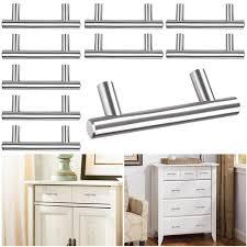 kitchen cabinet door handles walmart yescom kitchen cabinet door handles t bar brushed stainless steel 5 center cupboard drawer pulls
