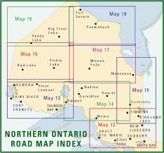 northern map northern ontario road maps